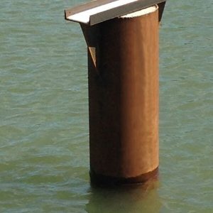 horizontal pile mount support bracket