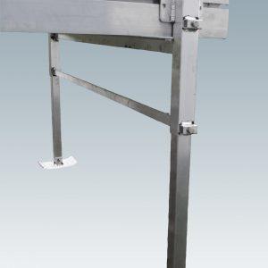 metal external adjustable dock legs with foot plates