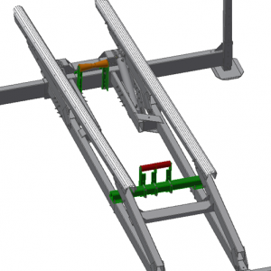 illustration of metal frame and mechanism