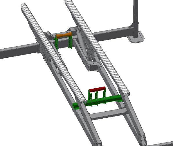illustration of metal frame and mechanism