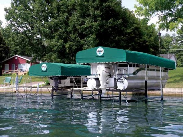 RGC Pontoon and Tritoon lift with Canopy