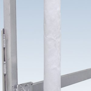 vertical foam guide post mounted to a boat lift