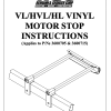 VL/HVL/HL VINYL MOTOR STOP INSTRUCTIONS 04092018