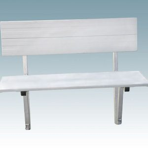 aluminum bench with back rest to mount on a dock