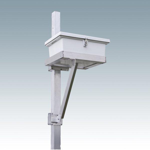 vertical mount control box shelf with white box
