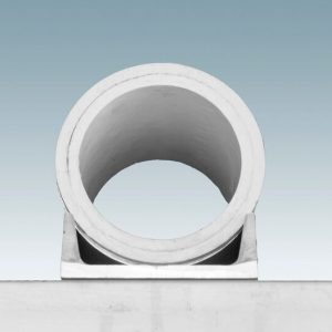 round PVC dock pile guide