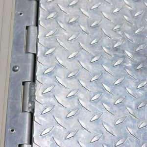 galvanized metal ramp tread plate attachment