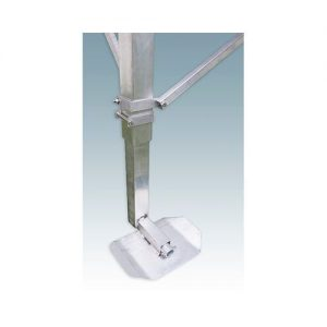 adjustable metal leg with foot plate