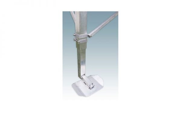 adjustable metal leg with foot plate