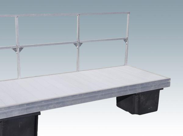 double rail metal dock railing attachment