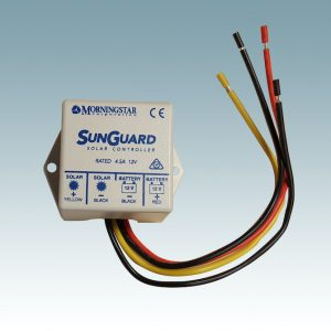 solar charge battery charge controller with wires
