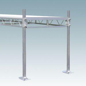 metal dock external and adjustable legs