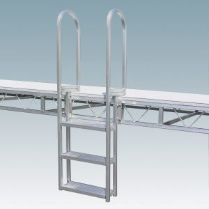 3-step dock ladder with rounded handles