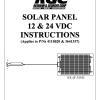 SOLAR PANEL 12 & 24 VDC INSTRUCTIONS